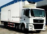 Camion de bonne qualité de réfrigérateur de cadre de transport de chair de poissons de Sinotruk avec le générateur américain de transporteur