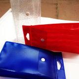 Rectángulo de empaquetado del PVC del claro de encargo de la impresión con el botón