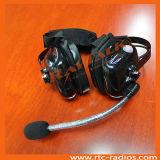 対面ラジオのためのヘッドセットを取り消すヘッドタイプ頑丈な騒音の後ろ