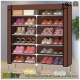 12-Tier Metal Frame Waterproof Cloth Shoe Cabinet (WS16-0047, pour les meubles à la maison)