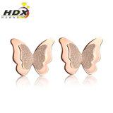 Oorringen van het Roestvrij staal van de Manier van meisjes de Mooie Juwelen vlinder-Gevormde 316L