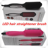 LED Display를 가진 2016 새로운 Professional Hair Straightener Comb Electric Brush Hair Straightening Flat Iron Styling Tools