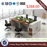 Divisória de madeira do escritório da estação de trabalho de 4 assentos $288 (HX-PT14026)