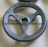 Roda de mão da carcaça do ferro cinzento com fazer à máquina do CNC