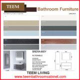Armário de banheiro de madeira, armários da vaidade do banheiro da poupança do espaço do toalete