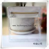 Sac de toilette en PVC de haute qualité avec fermeture éclair en plastique argenté