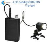 Faro del LED, tipo medico del morsetto dell'indicatore luminoso Ks-H1n per la lampada del E.N T, 3W lampada capa, stanza di chirurgia, stomatologia, veterinario, Dermatologist