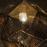 Lâmpada dourada moderna do pendente do aço inoxidável da decoração
