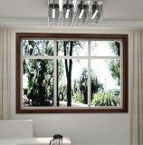 Guichet en aluminium populaire de tissu pour rideaux avec l'enduit blanc de poudre