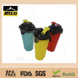 Não abanador Cup de Ceramic Promotional Mug Plastic com Two Filter Screen Containing Two Different Drinks 400ml