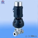 Soupape à diaphragme électrique intelligente de bride d'acier inoxydable de positionneur de valve
