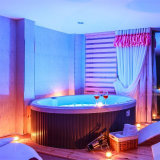 Romantic Circular Jacuzzi Round SPA Hot Tub with LED Lights