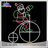 Sankt und seine Weihnachtsseil-Motiv-Lichter des Fahrrad-LED