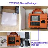 IDのカード読取り装置(TFT500P/GPRS)が付いているGPRSの指紋のタイムレコーダー