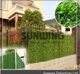 Haie artificielle de jardin de LIERRE de feuille de buis en plastique vert de frontière de sécurité