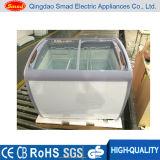 Xs-360yxによって曲げられるガラスドアの箱のフリーザー、アイスクリームの箱のフリーザー