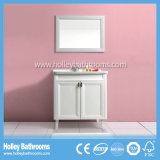Vaidade de banheiro tradicional de madeira sólida clássica estilo americano (BV218W)