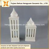 Casa cerâmica do suporte de vela da forma do arranha-céus da alta qualidade