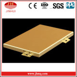 Hochwertige Goldfarben-Aluminiumpanel-Wand-Umhüllung