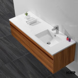 Pedra Artificial Luxury White Bathroom Counter Top Cabinet Basin