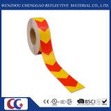 Лента безопасности красной & желтой стрелки отражательная (C3500-AW)