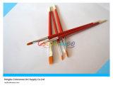 cepillo de nylon del artista del pelo de la manija de madera 5PCS en el bolso del PVC para la pintura y el dibujo