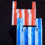Sachet en plastique rayé remplaçable de T-shirt d'épicerie de HDPE