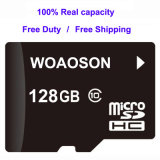 Cartão 100% personalizado de alta velocidade do micro da capacidade 32GB SD do cartão de memória do logotipo 64GB TF