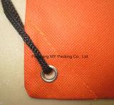 Sac réutilisable non tissé ou de polyester d'oeillet de cordon pour la promotion