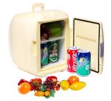 Portable Mini Fridge 6liter DC12V, AC100 - 240V with Cooling and Warming for Car, Office or Home Use
