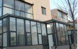 Neue Entwurfs-Aluminiumlegierung-hohle Schiebetür für Wohnzimmer-Balkon