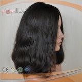 Нетронутый парик шнурка человеческих волос темного цвета Remy девственницы