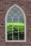 Specchio di vetro del giardino del ferro dell'annata per la decorazione domestica