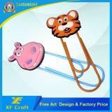 La marca de libro de goma de regalo de la promoción del PVC de la aduana popular con cualquier insignia libera diseño