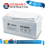Batterie de gel 12V 60ah pour l'UPS et le réverbère solaire