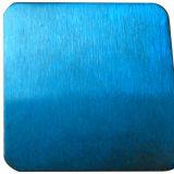 Het blauwe Hairline Roestvrij staal plateert 304