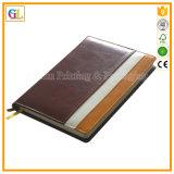 Impresión de cuero de encargo del cuaderno del asunto de la PU