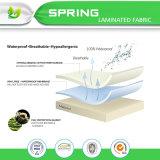 Couverture 100% de matelas imperméable à l'eau de Terry de coton avec la membrane respirable de 0.025mm TPU