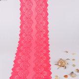 Tessuto del vestito dal merletto del jacquard della Cina del tessuto del merletto del carminio