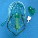 Justierbare medizinische Sauerstoffmaske für einzelnen Gebrauch (Grün, erwachsene längliche mit Rohrleitung)