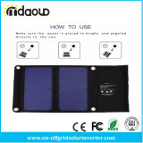 22% 5V 14W der Sonnenkollektor-Aufladeeinheit Doppel-USB schließt faltbare Solaraufladeeinheits-Solarladegerät-Beutel für iPhone iPad an den Port an