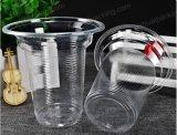 Tazza di plastica dell'animale domestico a gettare trasparente libero stampata abitudine senza coperchio
