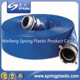 Tubo agrícola rojo/tubo del PVC Layflat de la irrigación del agua plana