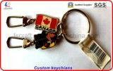 Kundenspezifische Andenken-MetallKeychains Schlüsselringe