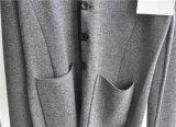 Cardigan lavorato a maglia inverno degli uomini 100%Wool con il tasto e la casella