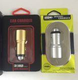 전화를 위한 5V 2.1A 금속 안전 망치 차 충전기 2 USB 포트