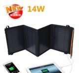 Carregador solar original 14W 5V 2000mA 800mA do banco da potência do telefone móvel da fábrica