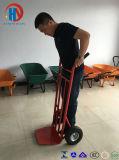 Trole de mão com duas rodas pesadas