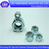 Tous classent la noix en nylon Hex galvanisée blanche de DIN982 DIN985