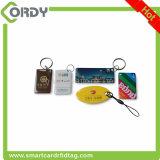 impresión RFID NFC Keychain de epoxy de la insignia con la viruta NTAG213